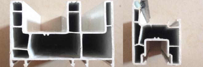 80mm Sliding PVC Window Door Profiles