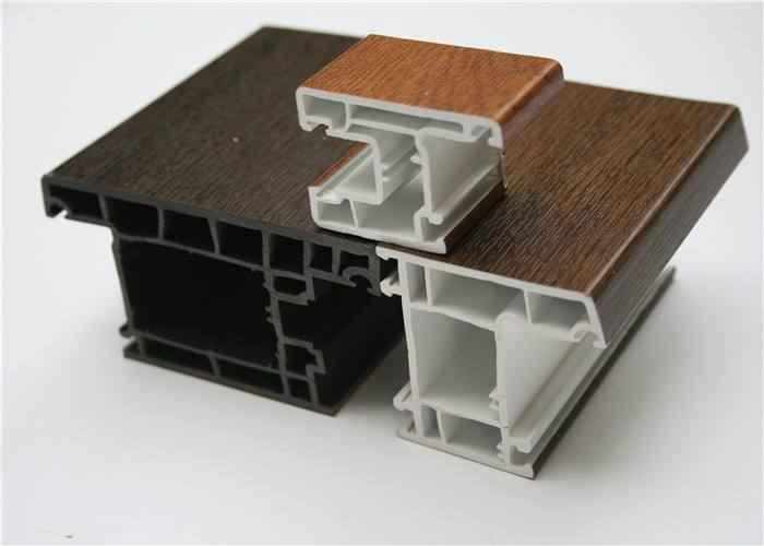 Wood Color PVC Window Door Profiles